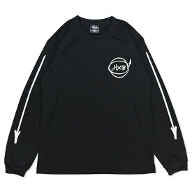 HXB DRY Long Sleeve Tee 【Marker】 BLACK×WHITE バスケットボール ドライロンTEE