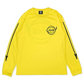HXB DRY Long Sleeve Tee 【Marker】 GOLD×BLACK バスケットボール ドライロンTEE