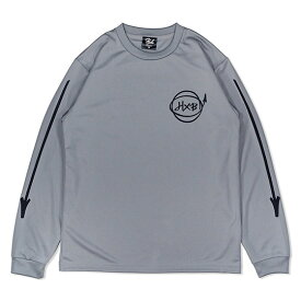 HXB DRY Long Sleeve Tee 【Marker】 GRAY×BLACK バスケットボール ドライロンTEE