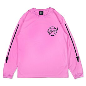 HXB DRY Long Sleeve Tee 【Marker】 PINK×BLACK バスケットボール ドライロンTEE