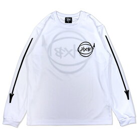 HXB DRY Long Sleeve Tee 【Marker】 WHITE×BLACK バスケットボール ドライロンTEE