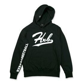 HXB HOODIE 【Under Line】 BLACK バスケ バスケットボール バスケウェア パーカー フード スウェット