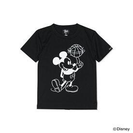 Mickey ミッキー / HXBバスケットボールドライTシャツ / キッズ / ブラック×ホワイト / Disney ディズニー 公式 オフィシャル コレクション