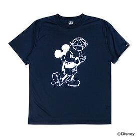 Mickey ミッキー / HXBバスケットボールドライTシャツ / ネイビー×ホワイト / Disney ディズニー 公式 オフィシャル コレクション