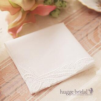 新娘手帕高贵 / 手帕白色手帕新娘新娘婚礼正式礼仪场合苗寨丝绸触摸棉花棉花做成的日本婚礼谢谢你主张礼品盒的婚礼