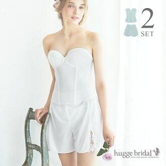 Bridal lingerie 2 point set Bustier & fair pants (simple Lux) / bridal inner / bridal lingerie set / bridal underwear / dress inner / wedding dress inner back open