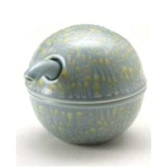 Hakusan porcelain C-type soy sauce pot yellow Japanese instrument Hasami  see ware kitchen supplies