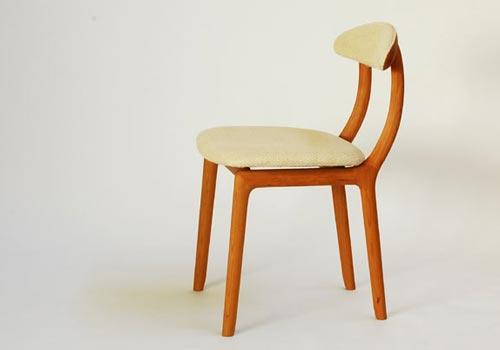 宮崎椅子製作所 KAKInoISU カキノイスチェア(背前布張) 古田恵介デザインデザイン Miyazaki Chair Factory