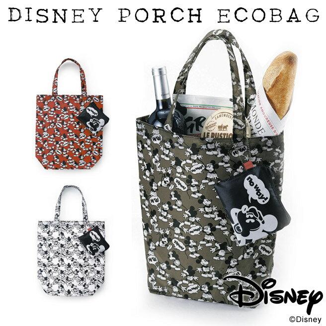 【メール便送料無料】ディズニー ポーチ付 エコバッグ Disney Porch Ecobag ミッキー 【ディズニー レディース ポーチ】【Disneyzone】[M便 1/2]10P27May16 P14Nov15【メ送】【SS50】