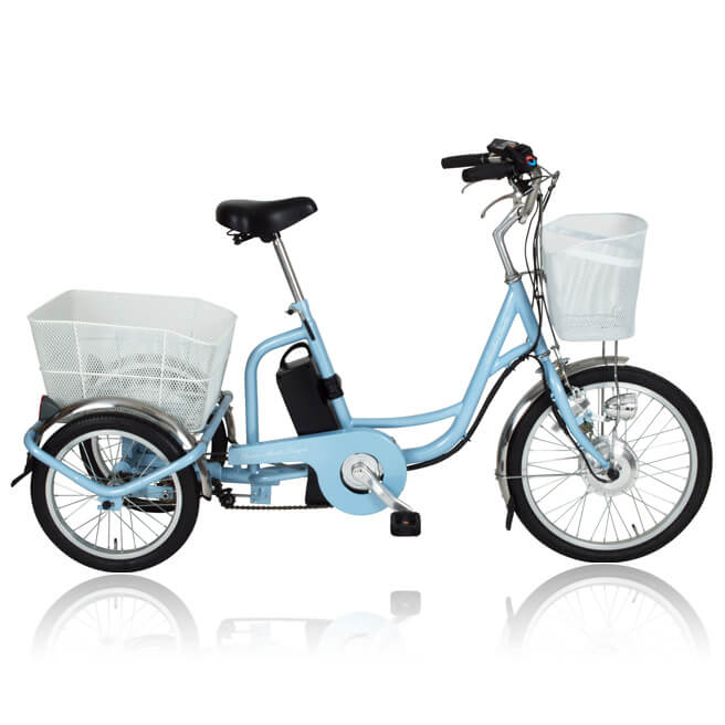 電動アシスト 三輪 自転車 MIMUGO MG-TRM20EB [直送品]【ポイント10倍】