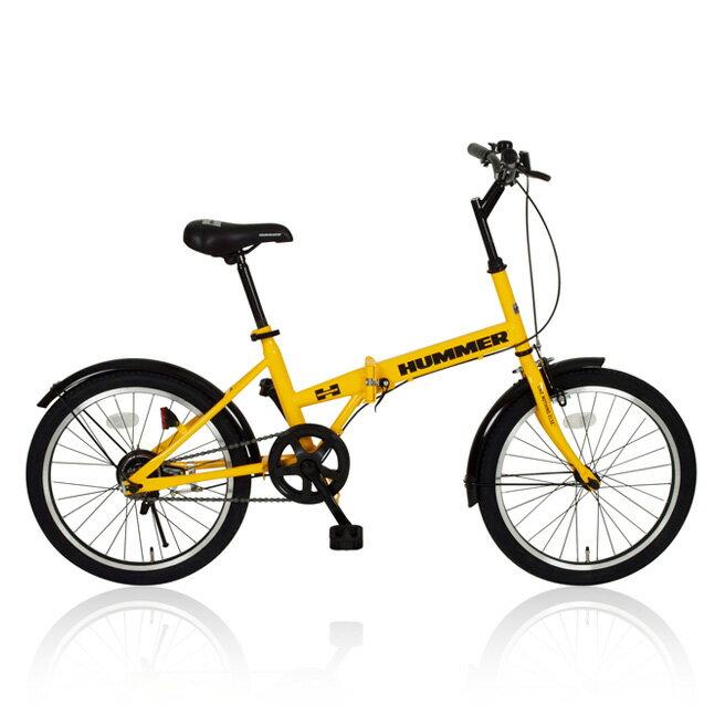 20インチ 折りたたみ自転車 HUMMER(ハマー) FDB20 MG-HM20R イエロー [直送品]【02P27May16】