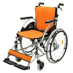 車椅子/自走介助兼用/ハピネス/CA-10SU/ケアテックジャパン/オレンジ