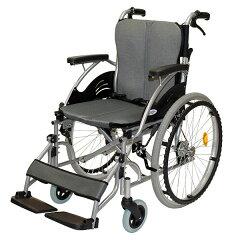 車椅子/自走介助兼用/ハピネス/CA-10SU/ケアテックジャパン/グレー