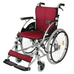 車椅子/自走介助兼用/ハピネス/CA-10SU/ケアテックジャパン/ワインレッド