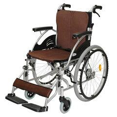 車椅子/自走介助兼用/ハピネス/CA-10SU/ケアテックジャパン/ブラウン