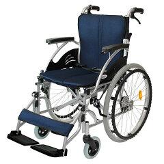 車椅子/自走介助兼用/ハピネス/CA-10SU/ケアテックジャパン/ネイビー