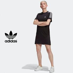 adidas originals (アディダス オリジナルス) Tシャツワンピース 24347(GN2777)TEE DRESS 半袖 クルーネック カットソー アウトドア レジャー デイリーユース スポーツ カジュアル レデ
