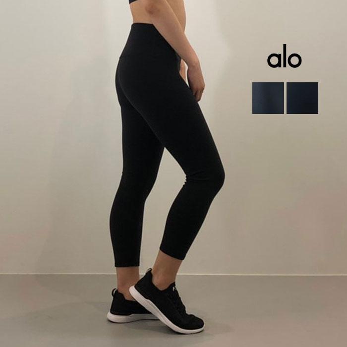 ALO YOGA(アロ ヨガ)レギンス HIGH-WAIST AIRBRUSH CAPRI  W5475R 日本未発売 アスレチック ジム トレーニング ランニング ヨガ yoga ピラティス