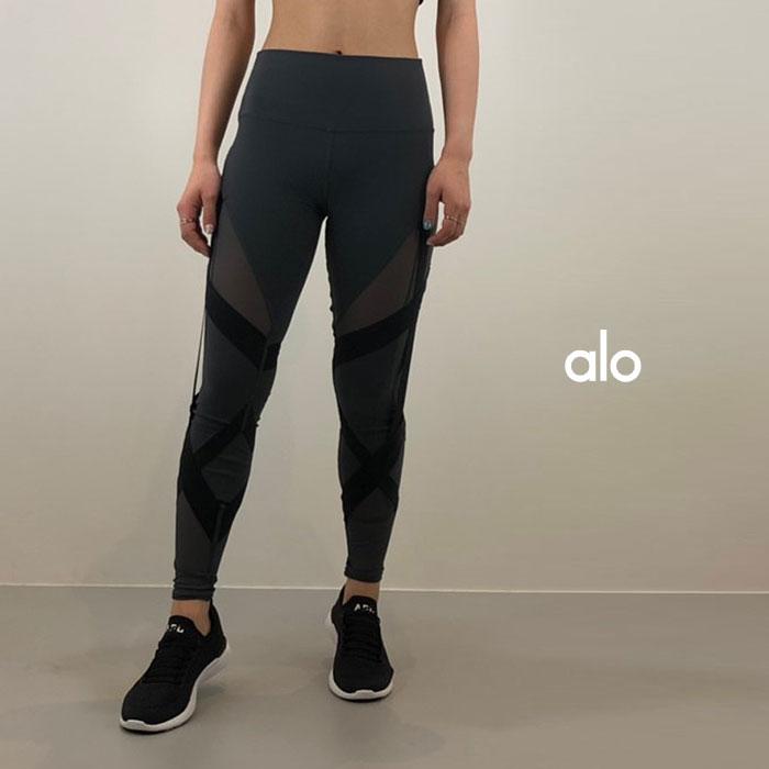 ALO YOGA(アロ ヨガ)レギンス HIGH-WAIST BANTAGE LEGGING W5592R 日本未発売 アスレチック ジム トレーニング ランニング ヨガ yoga ピラティス