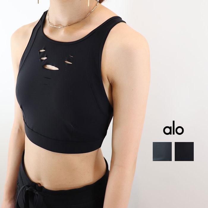 ALO YOGA(アロ ヨガ)ブラトップ RIPPED WARRIOR BRA W9135R 日本未発売 アスレチック ジム トレーニング ランニング ヨガ yoga ピラティス