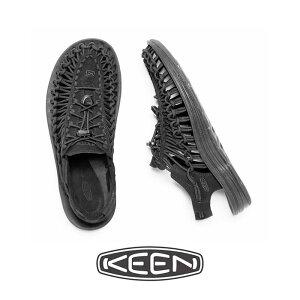 ・KEEN(キーン)メンズ ユニーク/ブラック ブラック/ KEEN/Uneek/Black Black #メンズ サンダル 吸水性