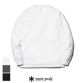 【SALE 30%OFF】snow peak スノーピーク Heavy Cotton Garment Dyed Crewneck L/S SW-20AU101 ヘビー コットン ダイ クルーネック ロングスリーブ