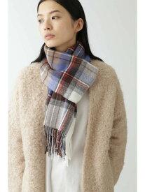 [Rakuten Fashion]◆GlenPrinceブルー系checkストール HUMAN WOMAN ヒューマン ウーマン ファッショングッズ スカーフ/バンダナ【送料無料】