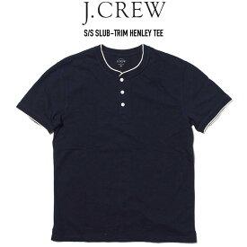J.CREW (ジェイクルー) S/S SLUB-TRIM HENLEY TEE ヘンリーネックTシャツ NAVY