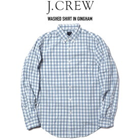 J.CREW (ジェイクルー) WASHED SHIRT IN GINGHAM チェックシャツ STONE BLUE WHITE
