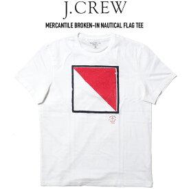 J.CREW (ジェイクルー) MERCANTILE BROKEN-IN NAUTICAL FLAG TEE プリントTシャツ
