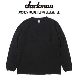 JACKMAN (ジャックマン) JM5855 POCKET LONG SLEEVE TEE 長袖ポケットTシャツ BLACK