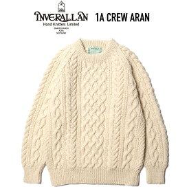 INVERALLAN (インバーアラン) 1A CREW ARAN クルーネックアランセーター NATURAL