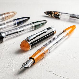 作为水晶透明钢笔墨水容量4倍的清除的透明感和3种光辉女式无袖内衣封条强化(墨盒·转换器·眼睛糖果)的吸入机构