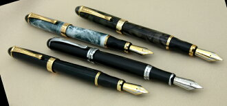 4 fountain pen model managers best recommended Chinese writing brush a 太軸 body large size 18-karat gold GP nib among M( such as the character )/ beauty mechanic writing brush pelican I write it, and, please try taste by all means!