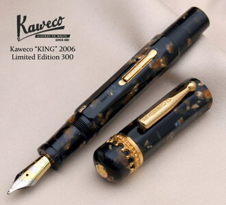 "2006 300 Only! Golden fountain pen order reprint ""King"" celluloid fountain pen Delta luxury Studio today! Two types of rare Kugel and stub nibs!"