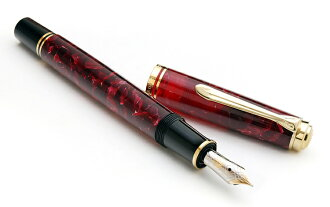 限定M600钢笔特别生产型号红宝石红1000限定钢笔人气No.1型号M600 14钱专家在2012年选的钢笔排名第1名! 对男性而言正好的尺寸