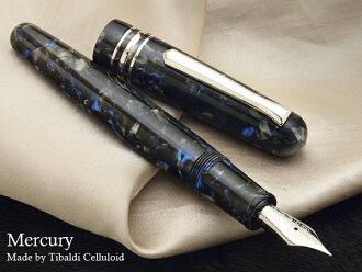 罕见 !幻影限量版 80 Tibaldi 蓝色赛璐珞 stipula 钢笔 14 k Tibaldi 笔专门使用比利时汞作自来水笔