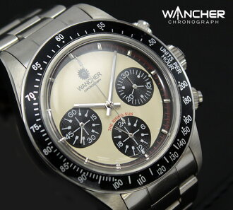 Chronograph / chronograph Mans exotic mechanical hand winding White Dial elegant design! Low-volume production models.