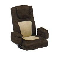LZ-082BR座椅子回転式ガス圧無段階レバー式リクライニング座イスザイス座いす回転式座椅子パーソナルチェアチェアー椅子イスいす機能充実リラックスチェア肘掛け肘掛リモコン収納ポケット幅75cmイス・チェア布地送料無料