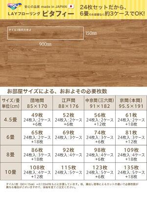 東リLAYフローリングピタフィーLPF522ブラウンウォールナット24枚入住宅用防炎床暖房対応【代引不可】