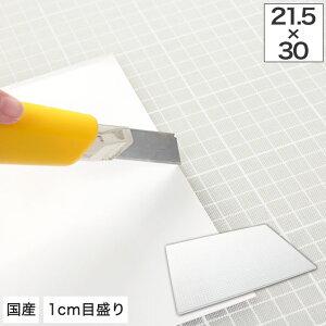 カッティングマット A4 サイズ対応【送料無料】国産 カッターマット 幅21.5x奥行き30cm A4 1mm間隔のメモリ定規 エンボス加工(滑り止め) カッターマット 環境にやさしいオレフィン系素材 カッテ