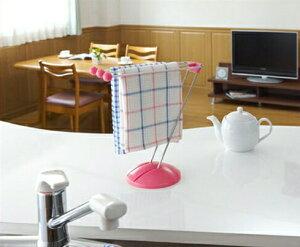 ふきん掛けスタンド 布巾掛けふきんかけ ふきん ハンガー ふきんスタンド ダスター キッチン 台所 台所用品 キッチングッズ Belca ベルカ ピンク使いたい時に台拭きをサッと使えるスタンド