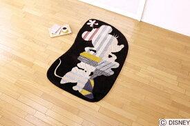 \3%OFFクーポン★20日23:59まで★/ ディズニー ラグマット ミニーモデルフレームラグ Disney Minnie model frame rug 最大幅約85×135cmDRM-4021 (送料無料) (代引不可) 日本製 防ダニ 耐熱加工