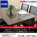【送料無料】日本製 テーブルマット 1.5mm厚 92×180cm テーブルクロス ビニール 撥水 透明 家具やテーブルをキズや汚れから守る。透明度が高いテーブ...