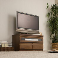 【送料無料】アルダーコーナーTVユニットシリーズ「幅80cmダークブラウン」TE-0025/同じシリーズのコーナーテレビ台と組み合わせできます。テレビ台TV台