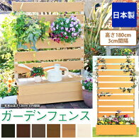 ガーデンフェンス木製日本製マルチボーダータイプボックス付きフェンス高さ180cm3cm間隔プランター付きフェンスプランター付きガーデンフェンスフェンス+プランタープランタボックス付きガーデンフェンス樹脂製国産[送料無料]
