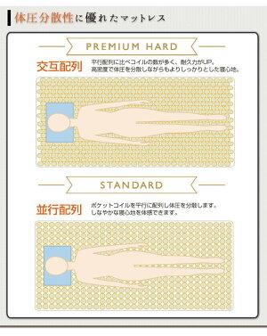 ポケットコイルマットレスプレミアムハードシングル東京スプリング工業×neruco共同開発オリジナルマットレス日本製5.5インチコイル交互配列消臭抗菌防ダニややかため