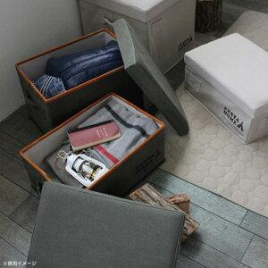FESTAHOMEストレージチェアスクエアベージュ折りたたみふた付きケース収納ボックス椅子小物入れアウトドア箱スツールボックスチェアイスSPICE