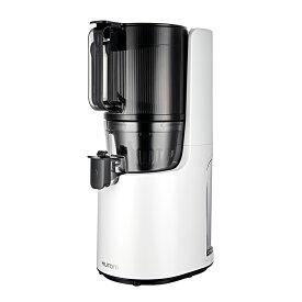 ヒューロム スロージューサー H-200(ホワイト)コールドプレス ジューサー 低速ジューサー 大口径投入口 オートカッティング 洗いやすい フィルター式 公式限定モデル