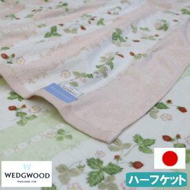 ハーフサイズ ウェッジウッド タオルケット 西川産業 WEDGWOOD ハーフケット 日本製 WW7620